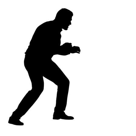 Silhouette of an athlete boxer Illustration
