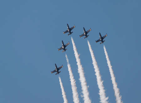 Flight of the aerobatic group
