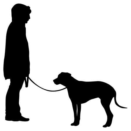 Doberman pinscher dog black silhouette on white background.