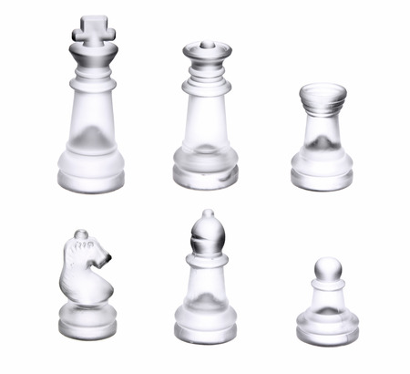 Clear chess pieces photo