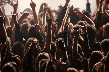 heavy metal music: Crowd rocking on the concert
