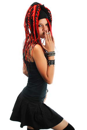 dreads: Girl with dreads Stock Photo