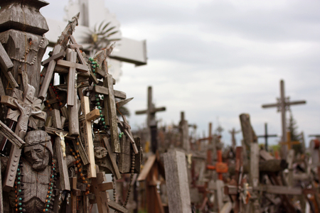 The Hill of Crosses is a pilgrimage site in north Lithuania