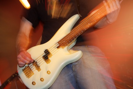 amplified: Guitarist at concert
