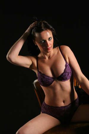 Sexy woman in underware photo