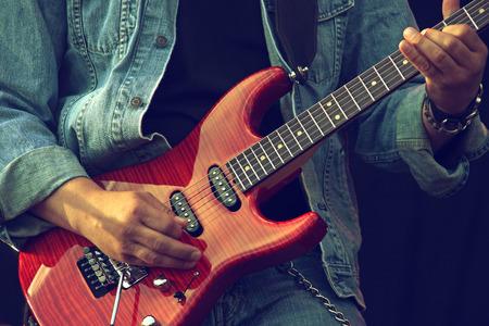 amplified: Guitarists hands
