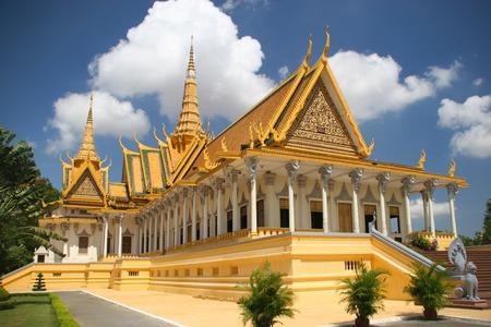 Koninklijk paleis in Phnom Penh Stockfoto