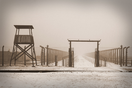 WWII prisoner camp at Auschwitz in Poland