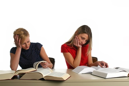 Young girls studying photo