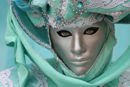 decorate: Beautiful clasical mask in Venice Stock Photo