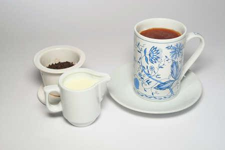 sociability: Tea cup Stock Photo