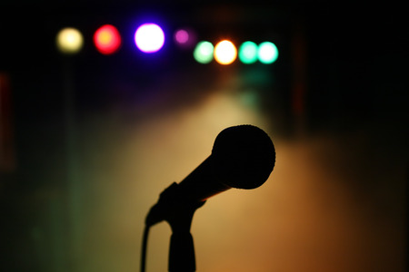 hardrock: Microphone on stage