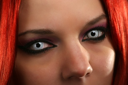 vampire teeth: Scary vampire girl