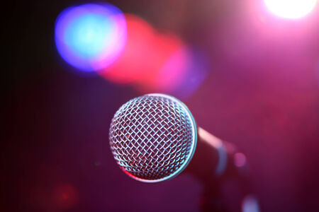 amplified: Microphone on stage