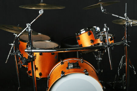 Drumms on a stage Stock Photo