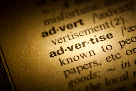 advertise: Word Advertise in a dictionary