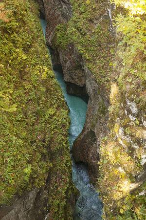 Canyon of a river Kamniska Bistrica in Slovenia. photo