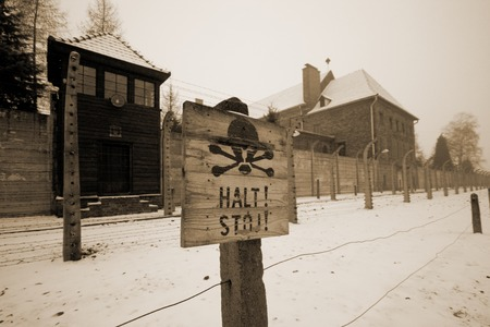 Sing at WWII prisoner camp Aushwitz saying you should stop or you will die Editorial