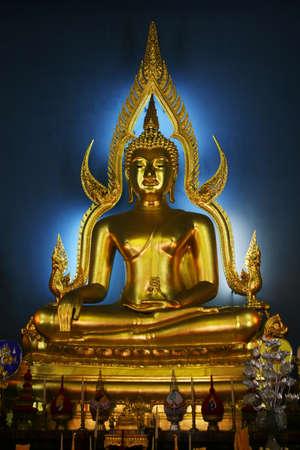 marble palace: Buddha in Marble Palace in Bangkok, Thailand Stock Photo
