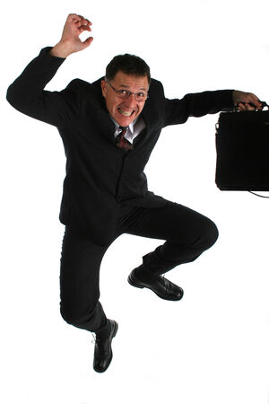Funny businessman photo
