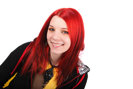 Beautiful red hair girl photo
