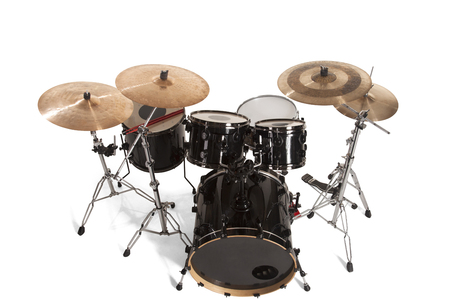 Bass Drum Kit isolated over white background photo