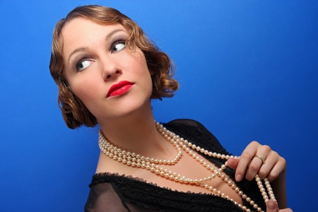 tractive: Portrait of an tractive elegant young woman.