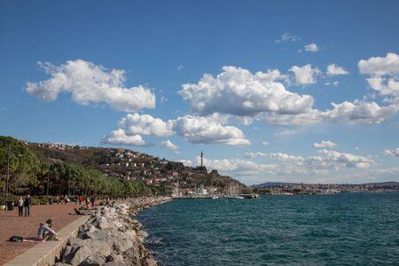 trieste: Seaside in Trieste Editorial