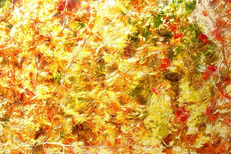 overflow: bright autumn abstract scrapbook background. illustration