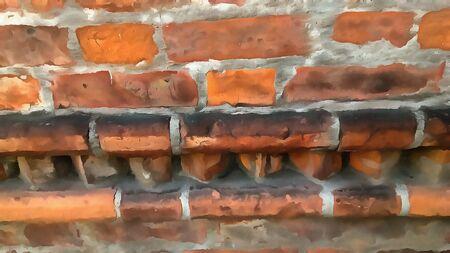 brickwork: masonry, wall, watercolor illustration, brick, stone, old brickwork, textured background