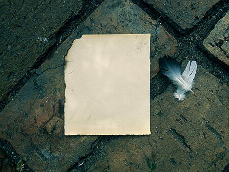burnt paper: old burnt paper vintage on old masonry