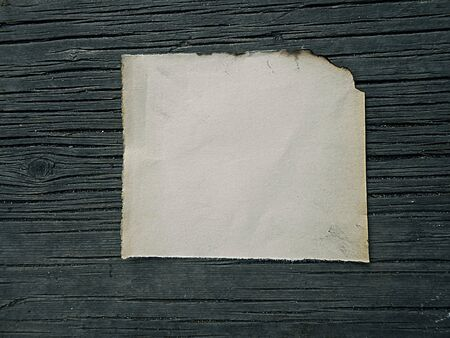 story time: old burnt paper on wooden boards vintage, illustration Stock Photo