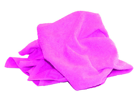 colorful pink towel isolated on a white background