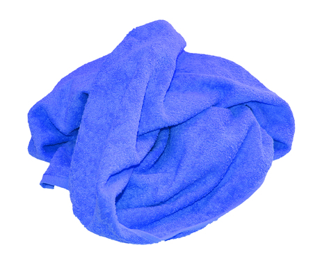 colorful blue towel isolated on a white background