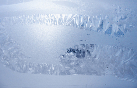 a picture of a frost on the windowpane Stok Fotoğraf - 118899526