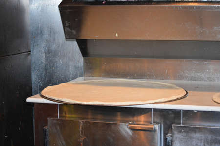 Gigant pizza Stock Photo
