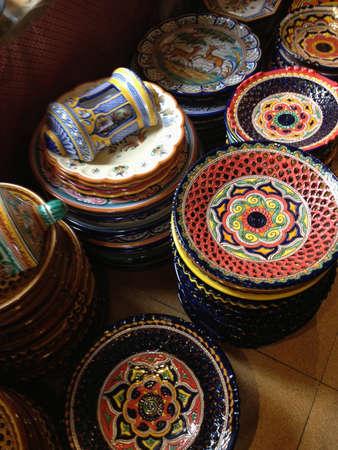 Ceramic bowls Stock Photo