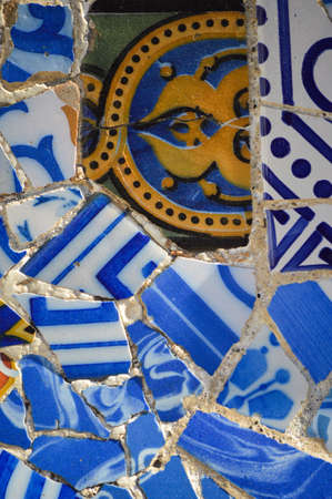 Tiles from Park Guell. Barcelona