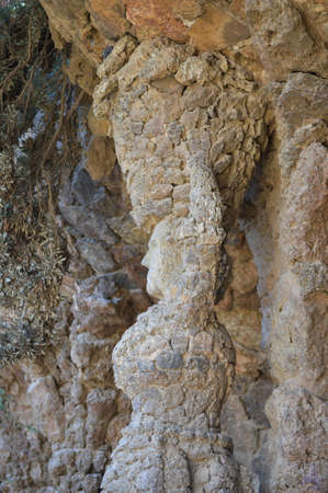 Column with shape of a woman. Park Guell