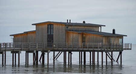 House on the bridge Stock Photo