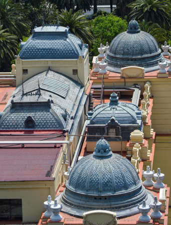 Domes on roof in Malaga Stock Photo