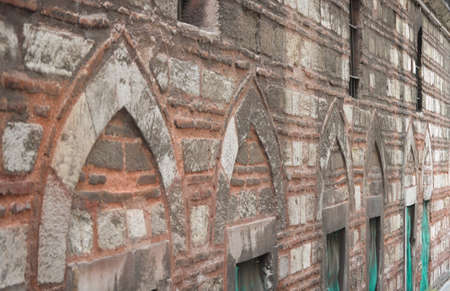 Wall of an old building in Istanbul