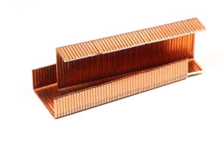 metal fastener: yellow staples