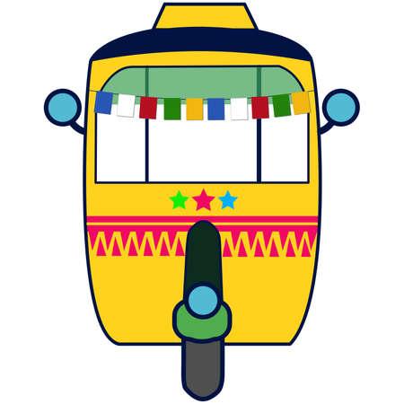 the Indian tuk tuk or autorickshaw Illusztráció