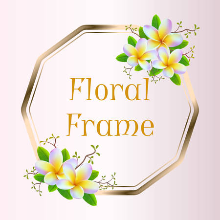 realistic floral frame