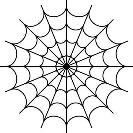 Spider Web Icon Design Vector Art Illustration. 일러스트