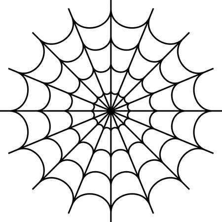 Spider Web Icon Design Vector Art Illustration. Иллюстрация