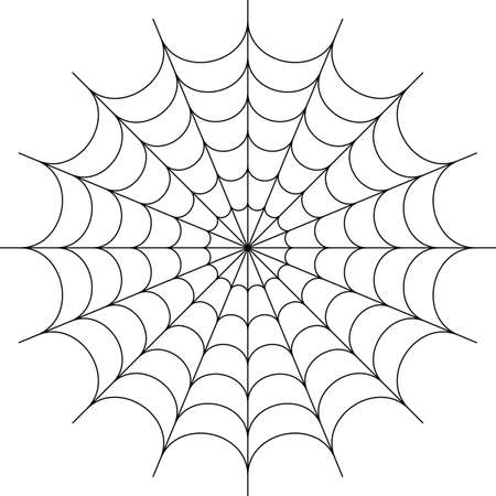 Spider Web Icon Design Vector Art Illustration
