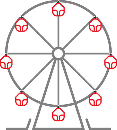 Ferris Wheel Design Icon Art Illustration. Illustration