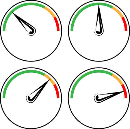 Gauge Icon Design Vector Art Illustration set